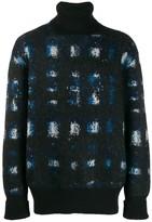 Alexander McQueen mottled knit turtleneck jumper