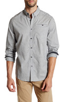 Kenneth Cole New York Long Sleeve Besom Pocket Button Up Shirt