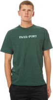 Passport Pass Port Official Embroid Mens Tee Green
