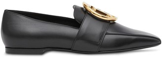 Burberry Monogram Motif Leather Loafers