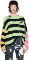 Charles Jeffrey Loverboy Multicolor Stripe Slash Sweater