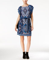 INC International Concepts Petite Printed Blouson Dress, Only at Macy's