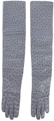 Prada Grey Exotic leathers Gloves