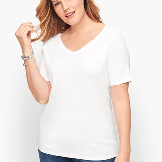 Talbots Pima Cotton V-Neck Tee