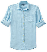 Margaritaville Long-Sleeve Solid Linen Shirt