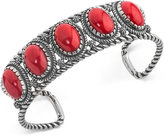 American West Coral Openwork Cuff Bracelet (27-2/5 ct. t.w.) in Sterling Silver