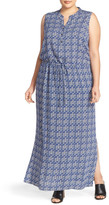 Caslon Sleeveless Woven Maxi Dress (Plus Size)