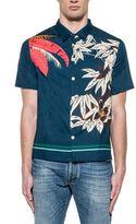 Valentino Blue Poplin Cotton Shirt