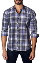 Jared Lang Woven Cotton Button-Down Sportshirt