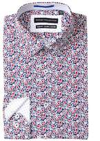 Report Collection Floral Slim Fit Stretch Dress Shirt