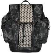 Dries Van Noten Cotton Canvas And Leather Backpack