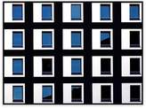United Artworks Black And Blue Photographic Canvas Print With Floating Frame