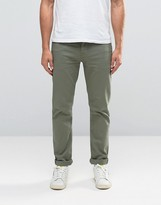 Asos Stretch Slim Jeans In Light Green