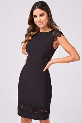 Paper Dolls Womens Stretch Bodycon Dress - Black