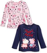 Nickelodeon Nickelodeon's Peppa Pig Long Sleeve T-Shirt, Pack of 2, Toddler & Little Girls (2T-6X)