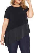 Plus Size Women's Rebel Wilson X Angels Asymmetrical Hem Crepe Top