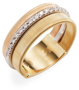 Marco Bicego 18K Yellow Gold 0.26 TCW Diamond Etched Goa Ring