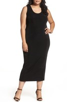 Vikki Vi Plus Size Women's Sleeveless Maxi Tank Dress