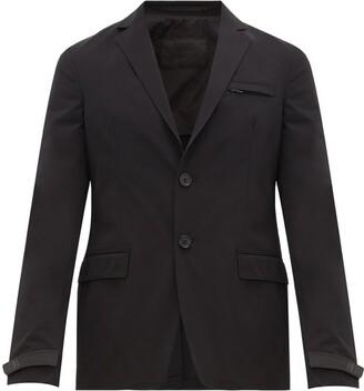Prada Logo-cuff Technical-gabardine Blazer - Black