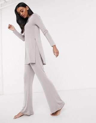 ASOS DESIGN lounge mix & match slinky flared trouser