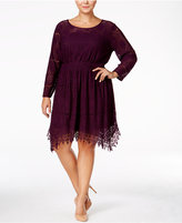 American Rag Trendy Plus Size Crochet Fit & Flare Dress, Only at Macy's
