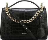 Nine West Women's Baldree Small Croco Shoulder Bag