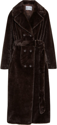 Stand Studio Faustine Oversized Double-breasted Faux Fur Coat