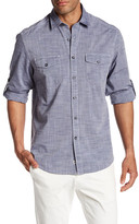 James Campbell Long Sleeve Collared Regular Fit Woven Shirt