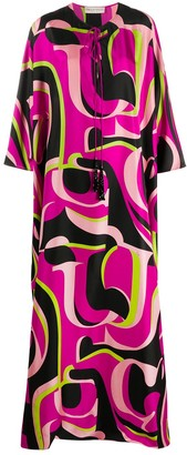 Emilio Pucci Print Floor-Length Dress