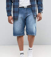 Loyalty And Faith Plus Brockers 5 Pocket Denim Shorts With Belt