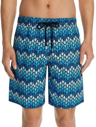 Vilebrequin Okoa Herringbone Turtle-Print Swim Trunks