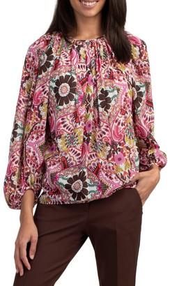 Trina Turk Ali Floral Long-Sleeve Blouse
