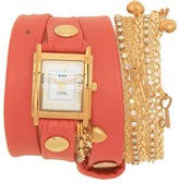 La Mer Tokyo Crystal Wrap (Coral/Gold) - Jewelry