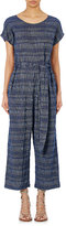 Ace&Jig Women's Belted Jumpsuit-BLUE, WHITE