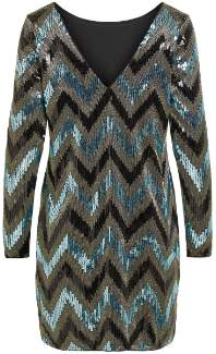 Vila Long Sleeves Black Visparky Dress - polyester | black | M . - Black/Black