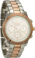 MC M&c Ferretti Women's | Chronograph Two-Tone Rose Gold Textured Big Dial Watch | FT14202