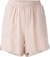 Gold Hawk track shorts - women - Silk - XS
