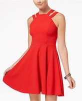 B. Darlin B Darlin' Juniors' Double-Strap Fit & Flare Dress
