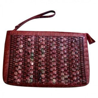 Nancy Gonzalez Burgundy Exotic leathers Clutch bags