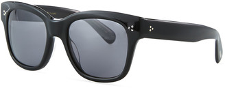 Oliver Peoples Melery Oversized Square Acetate Polarized Sunglasses