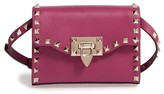 Valentino Small Rockstud Leather Shoulder Bag - Pink