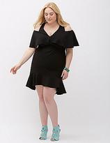 ABS by Allen Schwartz Deep V Dress with Cutouts
