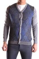 Daniele Alessandrini Men's Multicolor Wool Cardigan.