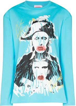 Charles Jeffrey Loverboy long-sleeve graphic print T-shirt