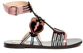 Valentino Love Blade patent-leather flat sandals