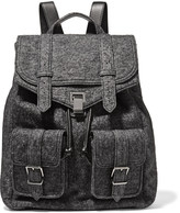 Proenza Schouler Leather and melange wool-blend backpack
