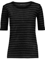 Majestic Striped Cotton And Cashmere-Blend Top