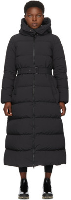 Moncler Black Down Goelo Long Coat