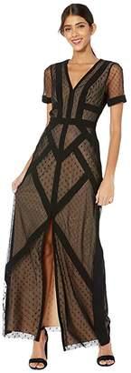 BCBGMAXAZRIA Short Sleeve Gown Dress