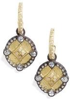 Armenta Old World Shield Diamond Drop Earrings